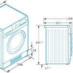 Medidas estandar lavadora